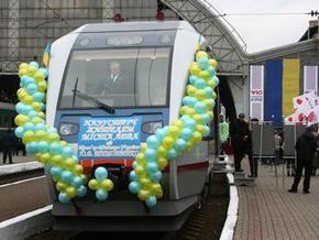 Во Львове запустили городской рельсовый автобус: Укрзалізниця подарила премьеру икону святой Юлии
