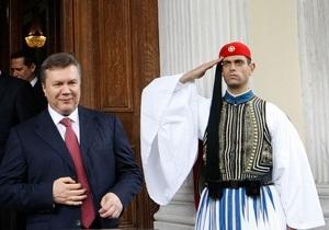 В БЮТ возмущены, что Янукович ездит на Афон за государственные средства
