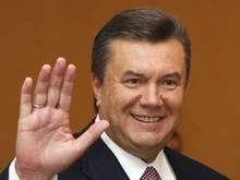 Януковича на родине встретили словами: Христос, Воскрес!