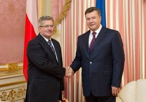 В Польше началась встреча Януковича с Коморовским