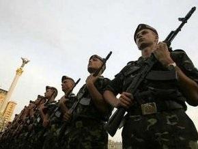 На Майдане Незалежности начался военный парад