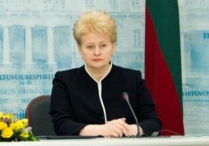 Грибаускайте: Дело Тимошенко не должно тормозить евроинтеграцию Украины