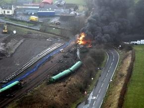 На юге Шотландии сошел с рельсов грузовой поезд