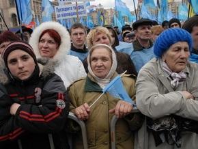 Харьков поставил рекорд по числу митингующих сторонников ПР