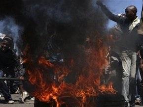 Южноафриканская полиция разогнала демонстрантов резиновыми пулями