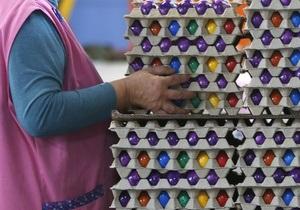 Французские фермеры в знак протеста разбили 100 тысяч яиц