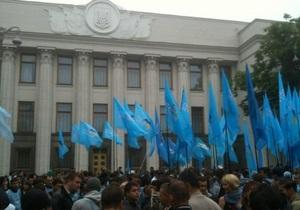 Сторонники Партии регионов заняли площадь у здания Верховной Рады