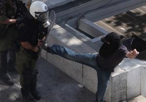 Беспорядки в Афинах: девять человек получили травмы, более 100 задержаны