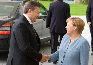 Янукович встретился с Меркель
