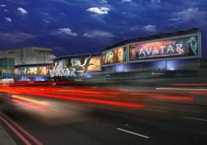 Рекламу фильма Аватар разместили на 60-метровом 3D-биллборде