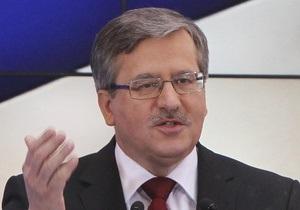 Коморовский назвал внутриполитическую ситуацию в Украине угрозой для евроинтеграции