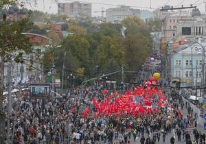 Удальцов насчитал 100 тысяч оппозиционеров на Марше миллионов, по данным МВД их не более 11 тысяч