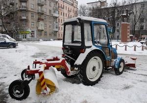 Киевавтодор заявил, что успешно чистит улицы от снега