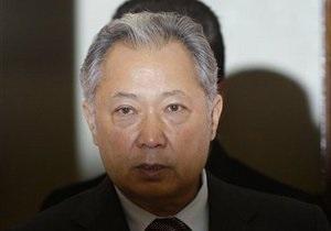 Бывшего президента Кыргызстана обвинили в соучастии в массовых убийствах
