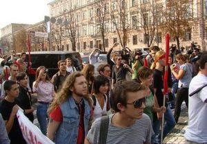 Студенты Могилянки устанавливают палаточный городок на Контрактовой площади - КУПР