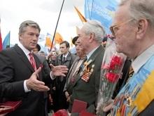 Ющенко попросил ветеранов жить как можно дольше