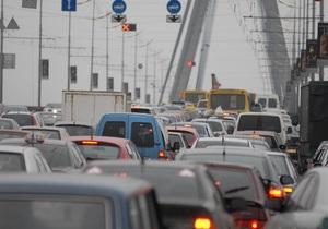 Киев по загруженности дорог вплотную приблизился к Москве