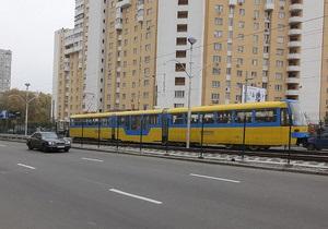 В Киеве на реконструкцию закрыли две станции скоростного трамвая