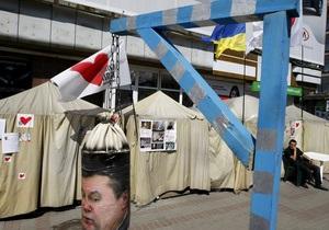 Милиция обещает убрать палаточный городок сторонников Тимошенко, если об этом попросят киевляне