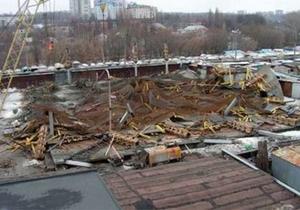 Новости Сум - обрушилось здание - В Сумах обрушилось недостроенное здание торгового центра