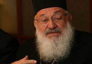 СМИ: Гузар почти слеп и не в состоянии управлять церковью