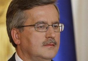 В Варшаве проходит встреча Януковича с Коморовским с глазу на глаз