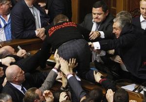 Драка в Верховной Раде сорвала голосование за спикера парламента