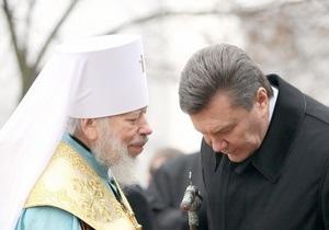 Янукович посетит пасхальное богослужение в Киево-Печерской лавре в ночь с 14 на 15 апреля