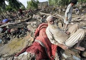 В Пакистане в результате наводнения пострадали более 20 миллионов человек