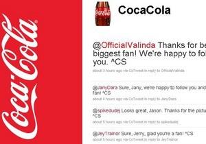 Coca-Cola отчиталась об успехах рекламной кампании в Twitter