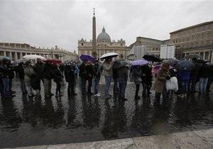 Отречение Папы Римского: В Риме усилены меры безопасности перед последней проповедью Бенедикта XVI
