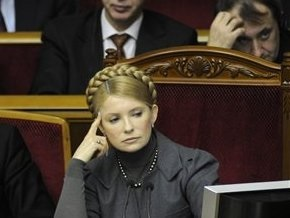 Тимошенко не стала комментировать варианты выхода из кризиса, предложенные Ющенко