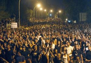 На Кипре проходят масштабные акции протеста  с требованием отставки президента и правительства