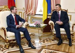 Янукович и Медведев подписали пакет украино-российских документов