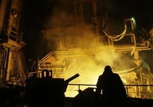 Производство стали  в Украине сократилось