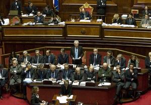 Сенат ответил на призыв премьера спасти Италию принятием плана жесткой экономии