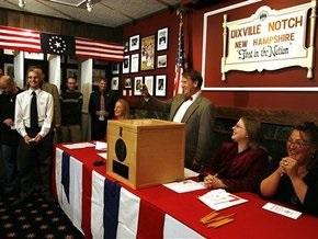 Обама победил Маккейна в самом первом голосовании