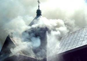 В Крыму горел храм УПЦ МП