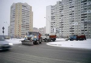 За минувшие сутки из Киева вывезли 2,5 тысяч тонн снега