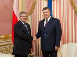 Новый год 2013 -Янукович и Коморовский в канун Нового года обсудили вопросы евроинтеграции Украины