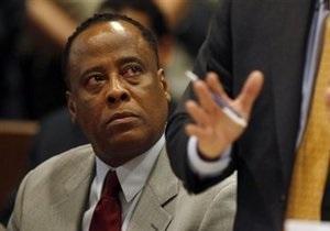 Врачу Майкла Джексона ограничили врачебную лицензию