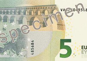 Европейская валюта - В мае появятся новые купюры номиналом 5 евро
