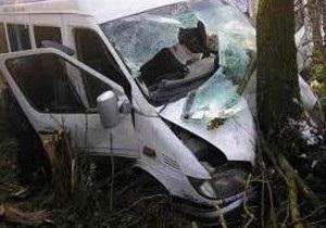 В Крыму микроавтобус врезался в дерево, есть жертвы