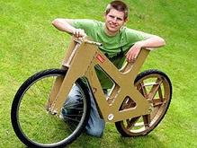 Британец создал велосипед из картона