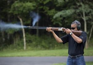 Белый дом опубликовал фото Обамы с ружьем в руках