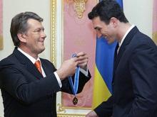 Ющенко поздравил Кличко с победой