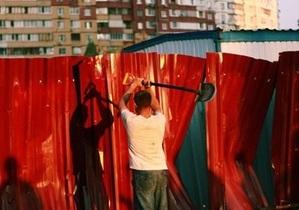 Штурм стройплощадки на Троещине: фото и видео читателей Корреспондент.net