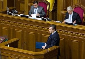 Литвин похвалил Януковича за  мозговую работу
