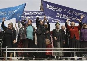 На юге Кыргызстана митингуют сторонники Бакиева