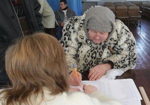 Выборы-2010: Ющенко занял шестое место в родной области